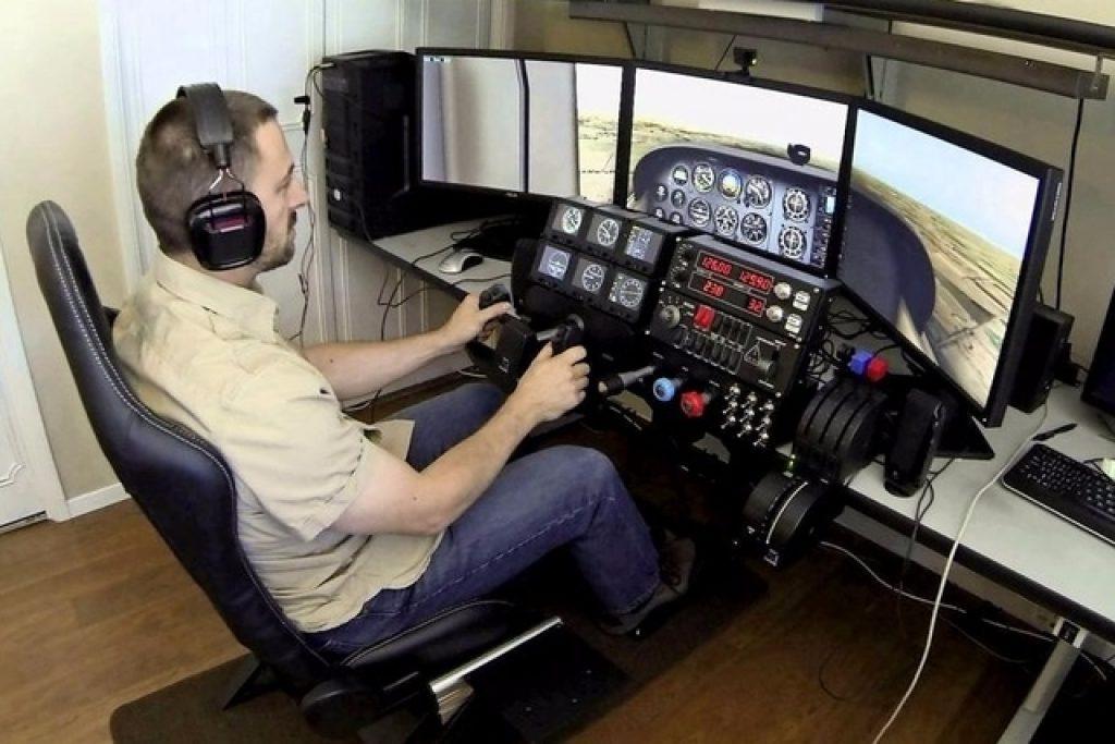 simulateur de vol joystick pas cher