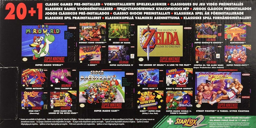 Super Nes Mini liste de jeux